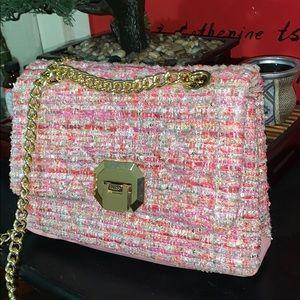 Very girly pink shoulder bag